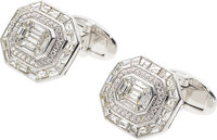Diamond, White Gold Cuff Links, Assil
