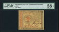 Colonial Notes:Continental Congress Issues, Continental Currency January 14, 1779 $3 PMG Choice About Unc 58 EPQ.. ...