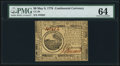 Colonial Notes:Continental Congress Issues, Continental Currency May 9, 1776 $6 PMG Choice Uncirculated 64.. ...