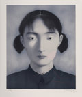 Prints & Multiples:Contemporary, Zhang Xiaogang (b. 1958). Sister, from Big Family, 2006. Lithograph in colors on Arches paper. 36-3/4 x 30-3/8 inche...