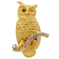 Estate Jewelry:Brooches - Pins, Diamond, Ruby, Sapphire, Gold Brooch, Scully & Scully