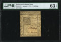 Colonial Notes:Delaware, Delaware January 1, 1776 6s PMG Choice Uncirculated 63 EPQ.. ...
