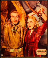 "The Plainsman (Paramount, 1936). Fine/Very Fine. Linen Finish Jumbo Lobby Card (14"" X 17""). Western"