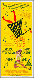 "Movie Posters:Musical, Funny Girl (Columbia, 1968). Folded, Very Fine/Near Mint. Australian Daybill (13"" X 30""). Musical.. ..."