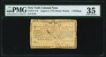 Colonial Notes:New York, New York August 2, 1775 (Water Works) 4s PMG Choice Very F...