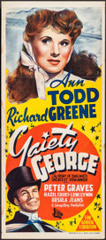 """Movie Posters:Musical, Gaiety George & Other Lot (B.E.F., 1946). Folded, Fine+. Australian Daybills (4) (13"""" X 30.25"""" - 13.25"""" X 30.25""""). Alternate... (Total: 4 Items)"""
