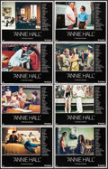 """Movie Posters:Comedy, Annie Hall & Other Lot (United Artists, 1977). Overall: Very Fine. Lobby Card Set of 8 (11"""" X 14"""") & One Sheet (27"""" X 41""""). ... (Total: 9 Items)"""