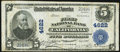 National Bank Notes:Pennsylvania, California, PA - $5 1902 Plain Back Fr. 602 The First NB Ch. # 4622 Fine-Very Fine.. ...