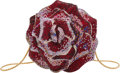 "Luxury Accessories:Bags, Judith Leiber Pink & Red Crystal Rose Minaudiere. Condition: 1. 4"" Width x 4"" Height x 4"" Depth. ..."