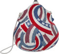 "Luxury Accessories:Bags, Judith Leiber Limited Edition Red, Silver & Blue Crystal Flags Minaudiere. Condition: 1. 5"" Width x 5"" Height x 2"" Dep..."