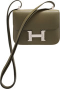 """Luxury Accessories:Bags, Hermès Vert Olive Epsom Leather Micro Constance with Palladium Hardware. N Square, 2010. Condition: 3. 5.5"""" Width ..."""