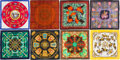 Luxury Accessories:Accessories, Hermès Set of Eight: Silk Scarves . Condition: 2. See Extended Condition Report for Sizes.... ... (Total: 8 Items)