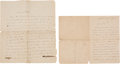 Books:Manuscripts, Charles Laval. Two Autograph Letters Signed. . ...