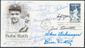 Autographs:Post Cards, 1983 Honoring Babe Ruth Multi-Signed First Day Cover (18 Signatures)....