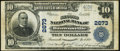 National Bank Notes:Pennsylvania, Brownsville, PA - $10 1902 Plain Back Fr. 635 The Second NB Ch. # 2673 Very Fine.. ...