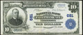 National Bank Notes:Pennsylvania, Uniontown, PA - $10 1902 Plain Back Fr. 624 NB of Fayette County Ch. # 681 Very Fine-Extremely Fine.. ...