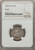 1875-CC 20C Fine 12 NGC. NGC Census: (66/808). PCGS Population: (140/1435). CDN: $285 Whsle. Bid for problem-free NGC/PC...