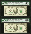 Fr. 2077-G $20 1990 Federal Reserve Notes. Five Consecutive Examples. ... (Total: 5)