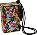 "Luxury Accessories:Bags, Judith Leiber Multicolor Floral Crystal Book Stack Minaudiere. Condition: 2. 3"" Width x 5.5"" Height x 2.5"" Depth. ..."