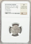 Ancients:Byzantine, Ancients: Manuel II Palaeologus (AD 1391-1425). AR half-stavraton (18mm, 3.78 gm, 5h). NGC XF 4/5 - 5/5....
