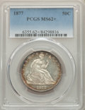 Seated Half Dollars: , 1877 50C MS62+ PCGS. PCGS Population: (42/137 and 2/17+). NGC Census: (39/118 and 0/3+). MS62. Mintage 8,304,510. ...