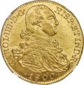 Colombia, Colombia: Charles IV gold 8 Escudos 1800/799 NR-JJ MS62+ NGC,...