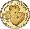 "Albania, Albania: People's Socialist Republic gold Proof ""Buthrotum Ruins"" 200 Leke 1968 PR67 Ultra Cameo NGC,..."