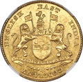 India:British India, India: British India. Madras Presidency gold Mohur ND (1819) MS61 NGC,...