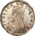 Colombia, Colombia: Cundinamarca 8 Reales 1821 BA-JF MS61 NGC,...