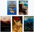 Books:Hardcover, Michael Moorcock Autographed Hardcover Editions Group of 5 (Various, 1972-96).... (Total: 5 Items)