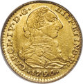 Colombia, Colombia: Charles IV gold 2 Escudos 1790 NR-JJ AU55 PCGS,...