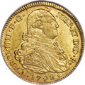 Colombia, Colombia: Charles IV gold 4 Escudos 1792 P-JF AU50 PCGS,...