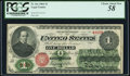 Large Size:Legal Tender Notes, Fr. 16c $1 1862 Legal Tender PCGS Choice About New 58.. ...