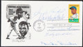 Autographs:Letters, 1982 Honoring Jackie Robinson Multi-Signed First Day Cover (5 Signatures)....