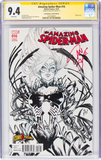 The Amazing Spider-Man #16 ComicXposure Sketch Edition - Signature Series (Marvel, 2016) CGC NM 9.4 White pages