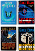 Books:Hardcover, Greg Egan Hardcover Group of 10 (Various, 1990s).... (Total: 10 Items)