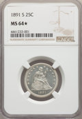 Seated Quarters: , 1891-S 25C MS64★ NGC. NGC Census: (56/13 and 1/0*). PCGS Population: (44/30 and 1/0*). CDN: $575 Whsle. Bid for NGC/...