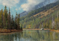 Paintings, Clyde Aspevig (American, b. 1951). Mountain Lake, 1984. Oil on canvas. 14 x 20 inches (35.6 x 50.8 cm). Signed and dated...