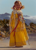 Paintings, Don V. Crowley (American, 1926-2019). Apache Child in Yellow Dress. Oil on Masonite. 12 x 9 inches (30.5 x 22.9 cm). Sig...
