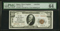 National Bank Notes:West Virginia, Ripley, WV - $10 1929 Ty. 2 The First NB Ch. # 10762 PMG Choice Uncirculated 64 EPQ.. ...