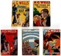 Books:Hardcover, H. G. Wells Vintage Hardcovers Group of 5 (Wm. Collins Sons Co. Ltd., 1920s).... (Total: 5 Items)