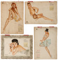 Memorabilia:Miscellaneous, Vintage Alberto Vargas Pin-Up Calendars Group of 4 (Esquire, 1943-46).... (Total: 4 Items)