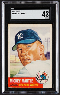 1953 Topps Mickey Mantle #82 SGC VG/EX 4