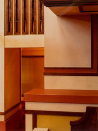 Don Dubroff (American, 20th Century) Frank Lloyd Wright: Interiors from the Studio and Unity Temple (7