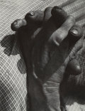 Photographs:Gelatin Silver, Karel Hájek (Czech, 1900-1978). Untitled (Woman's Hands Folded in Lap). Gelatin silver. 6-5/8 x 5-1/8 inches (16.8 x 13....