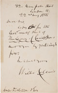 Books:Mystery & Detective Fiction, Wilkie Collins. Autograph Letter, Signed. London: May 22, 1888. Original letter.. ... (Total: 0 Items)