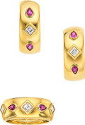 Estate Jewelry:Suites, Diamond, Ruby, Gold Jewelry Suite, Cartier  Th...