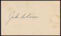 Autographs:Post Cards, 1952 Jackie Robinson Signed Government Postcard, PSA/DNA Mint 9....