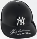 Baseball Collectibles:Hats, Rickey Henderson Signed New York Yankees Helmet....