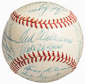 Autographs:Baseballs, 1956 Boston Red Sox Team Signed Baseball (26 Signatures)....